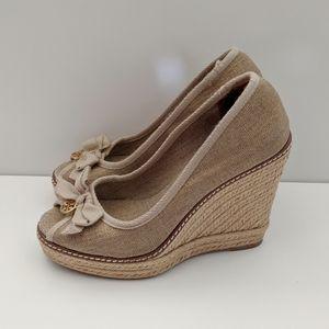 Tory Burch Jackie Espadrilles Wedge Sandals - 6.5